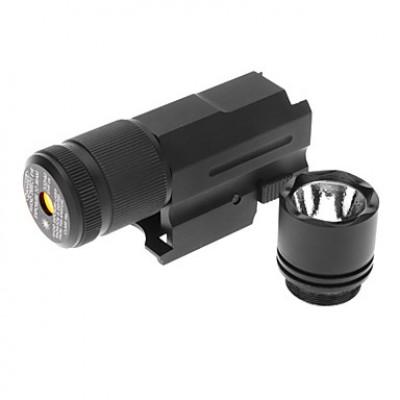 LT Зеленый лазерный прицел и фонарик Combo (1xSP123A, Черный)
