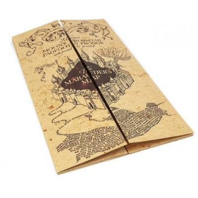 Подлинная карта мародёров школы волшебства Хогвартс