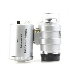 60x микроскоп лупа под руководством лупа + валют обнаружении