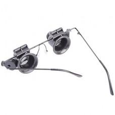 Глаз очки Стиль 18X Лупа со светодиодной Light Бижутерия Watch Repair Tool - черный