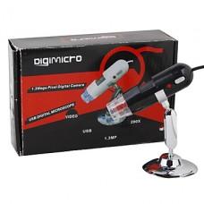 DigiMicro 1.3mp 200x масштабирования USB цифровой микроскоп с 8-светодиодной подсветкой