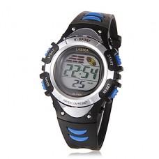 Детская Многофункциональный Круглый циферблат Rubber Band ЖК цифровой наручные часы (разных цветов)
