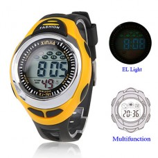 Водонепроницаемые часы с хронографом, календарем и будильником
