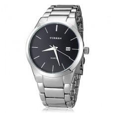 Лаконичные мужские кварцевые наручные часы с круглым циферблатом в стальном корпусе. Цвета в ассортименте