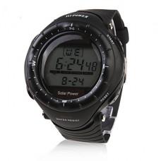 Водонепроницаемые часы на солнечной батарее унисекс (будильник, хронограф и подсветка)