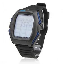 Водонепроницаемые часы с сенсорным дисплеем, черные