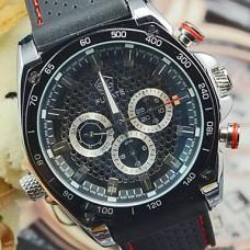 Hot! Последнее Черный Deluxe Auto Механическая 6 рук мужские спортивные часы наручные часы спорта