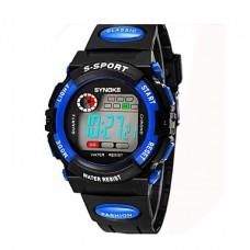 Дети / Мужская SYNOKE LEO Наберите Цифровой ПУ черная полоса водостойкой наручные часы