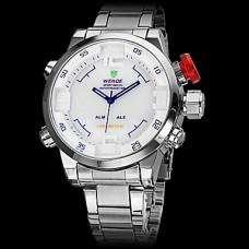 Вайде мужской деловой стиль многофункциональный двойной временной зоны стальной ленты кварцевые наручные часы (разные цвета)