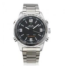 Аналоговые цифровые часы с двойным циферблатом WH-1009