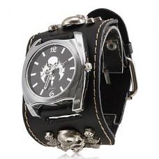 Кварцевые аналоговые часы унисекс (черные)