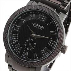 Модные мужские часы с черным циферблатом