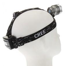 3-Mode Cree XM-L T6 Светодиодные фары (1000LM, 2x18650, серый + серебро)