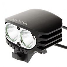 3 режимный светодиодный налобный фонарь 2xCREE XML-U2 (2000LM 4x18650 черный)
