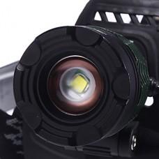 K12 регулируемый фокус 3-Mode 1xCree XM-L T6 Водонепроницаемый Фары (2x18650, 1200LM) Зеленый