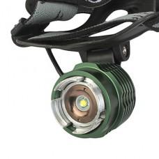 GD18 3-Mode аккумуляторная Cree XM-L T6 светодиодный свет велосипедов Увеличить / фары (1000LM, 2x18650, черный + зеленый)