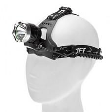 3-Mode Cree XR-E Q5 светодиодных фар (200LM, 2x18650, Черный)