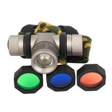 GD20 3-Mode Cree XP-E Q5 светодиодных фар с красочными Фильтры (240LM, 1x18650, серый)