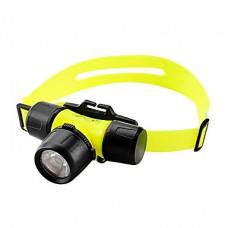Светящиеся в темноте 2-Mode Дайвинг фары с поворотный переключатель (3xAAA)