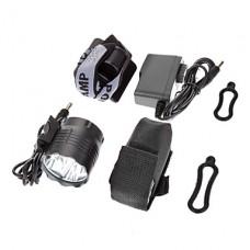 3-Mode 5xCree XM-L T6 светодиодный свет велосипедов Передняя / фары (3800LM, 4x18650, Темно-серый)