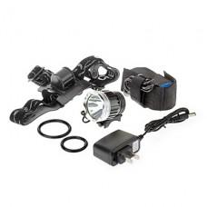3-Mode Cree XM-L T6 светодиодные велосипедов фонарик / Фары (1000LM, 4x18650, серый)