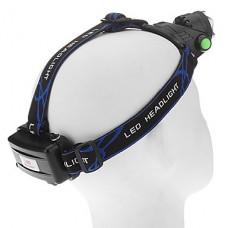 3-Mode Cree XM-L T6 LED Увеличить фары (1000LM, 2x18650, черный + синий)