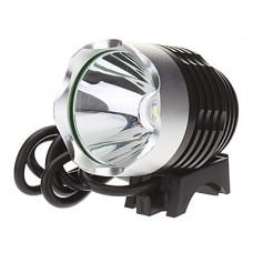 3-Mode Cree XM-L T6 светодиодные велосипедов фонарик / Фары (1000LM, 4x18650, черный)