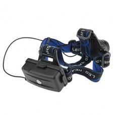 3-Mode Cree XM-L T6 LED Увеличить фары (1000LM, 2x18650, черный)