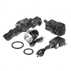 Улыбаясь Акула SS-1092 3-режиме Cree XM-L T6 светодиодные велосипедов фонарик / Фары (1000LM, 4x18650, черный)