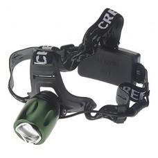 3-Mode Cree XM-L T6 LED Увеличить фары (1000LM, 2x18650, зеленый)