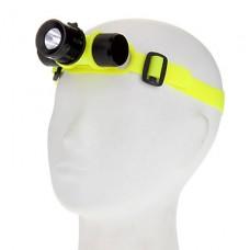 3-Mode Cree XM-L T6 Дайвинг Водонепроницаемые светодиодные фары (1000LM, 1x18650, желтый)