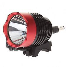 3-Mode Cree XM-L T6 светодиодные велосипедов фонарик / Фары (1000LM, 4x18650, черный + красный)