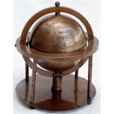 Глобус земной на пяти опорах в кольце