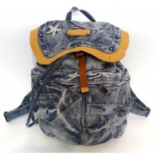 Рюкзак джинсовый с элементами кожи