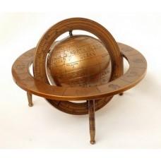 Глобус на трех ножках в кольцах зодиак