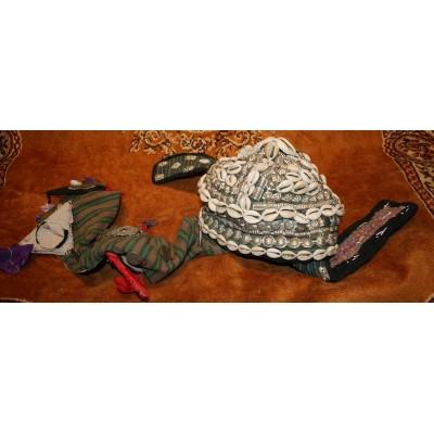 Шапочка афганской принцессы с украшениями