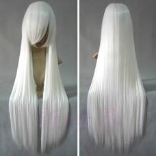 Inuyasha Inu Yasha Белый длинный прямой парик косплей