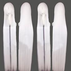 Inuyasha Sesshomaru Белый длинный прямой парик косплей