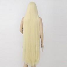 Chobits Chii Бежевый длинный прямой парик косплей