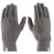 Перчатки с сенсором, перчатки с тачем, серые