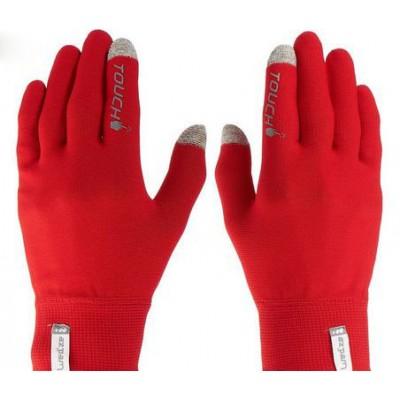 Перчатки с сенсором, перчатки с тачем, красные