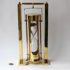 Песочные часы высотой 9 дюймов на карданном подвесе полированные
