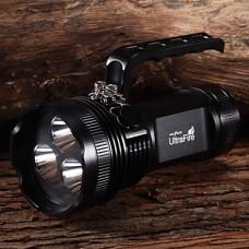 M9011 Аккумуляторная 6-Режим 3xCree XM-L2 U2 Водонепроницаемые фонарики и палаток Свет (4x18650, 6300LM, черный)