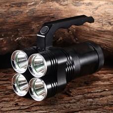 M9012 Ударопрочное 6-Режим 4xCree XM-L2 U2 Водонепроницаемые фонарики и палаток Свет (4x18650, 8400LM, черный)
