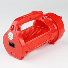DP LED-770 Туристический 2-режимный 16-LED фонарь. Кабель для подзарядки в комплекте, красный корпус.
