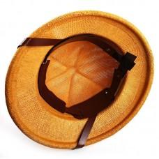 Шлем сафари бежевый из соломы