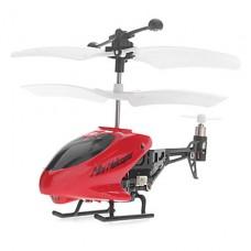 3,5-канальный 80 мм Красный Инфракрасный пульт дистанционного управления вертолетом для iPhone, IPad и Android (батарейки)