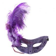 страусовые перья маскарад маски случайных судно с розовым и фиолетовым