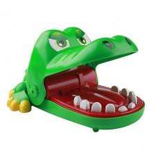 смешной рот крокодила укус пальца игра игрушки (зеленый, большой размер)