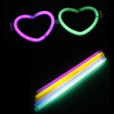 DIY Хэллоуин Любящая сердца Очки с 10PCS Серебристые палочки (случайный цвет)
